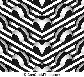 パターン, 半球, ベクトル, seamless