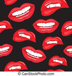 パターン, 唇, seamless