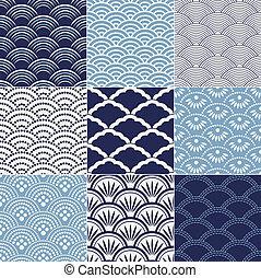 パターン, 日本語, seamless, 波