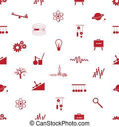 パターン, 物理学, seamless, eps10, アイコン