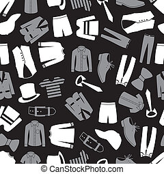 パターン, 衣類, seamless, eps10, mens