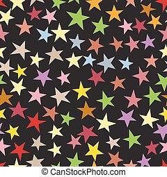 パターン, seamless, 星