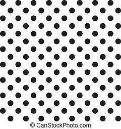 パターン, seamless, 点, 大きい, ポルカ