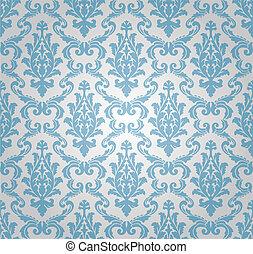 パターン, seamless, (vector), ダマスク織
