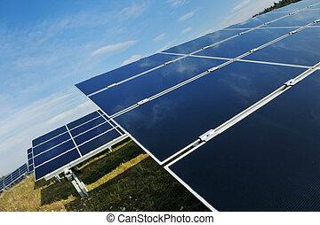 パネル, フィールド, エネルギー, 太陽, 回復可能