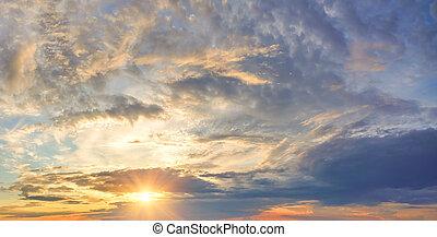 パノラマ, 劇的な 空, 背景