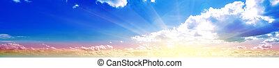 パノラマ, 空, 日の出