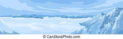 パノラマ, 範囲, 山