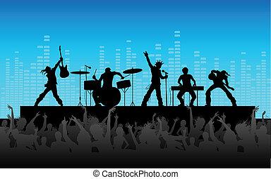 パフォーマンス, ロックバンド