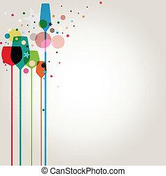 パーティー, カラフルである, 飲み物