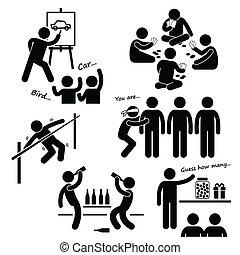 パーティー, レクリエーションである, ゲーム, clipart