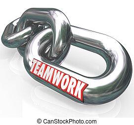 パートナー, 単語, チェーン・リンク, 接続される, チームチームワーク