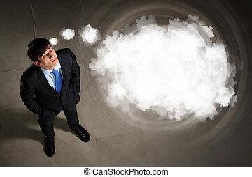 ビジネスマン, イメージ, 平面図