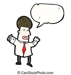 ビジネスマン, スピーチ, 漫画, 泡