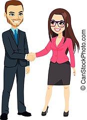 ビジネスマン, 手が震える, 女性実業家