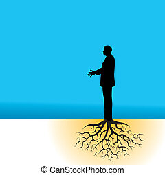 ビジネスマン, 木, 定着する