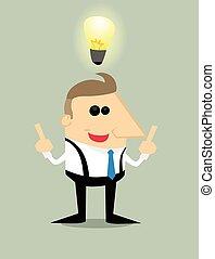 ビジネスマン, 漫画, 考え