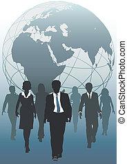 ビジネス, 世界的である, emergent, チーム, 世界, 資源