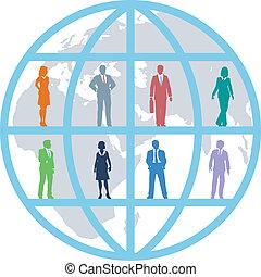 ビジネス 人々, 世界的である, チーム, 世界, 資源