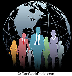ビジネス 人々, 全体的な地球, 黒, 地球