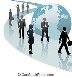 ビジネス 人々, 未来, 進歩, 世界, 道