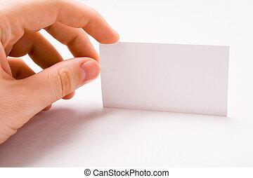 ビジネス, 手の 保有物, ブランク, マレ, カード