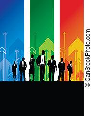 ビジネス, 背景の 人々