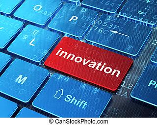 ビジネス, 革新, コンピュータ, 背景, キーボード, concept:
