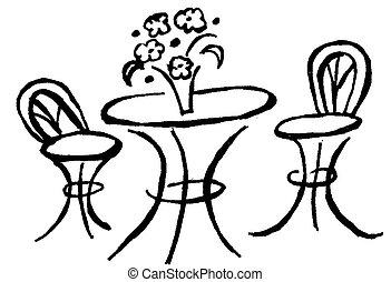 ビストロ, テーブル