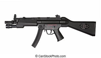 ビュー。, submachine, 現代, 武器, series., 側, 銃