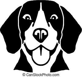 ビーグル犬, 頭