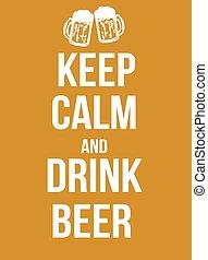 ビール, 飲みなさい, 冷静, たくわえ
