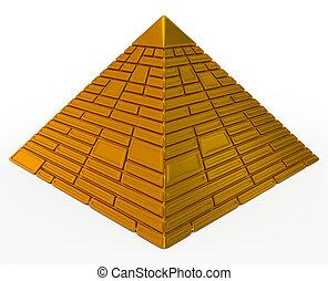 ピラミッド, 金