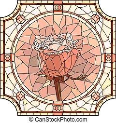 ピンクの花, rose., モザイク