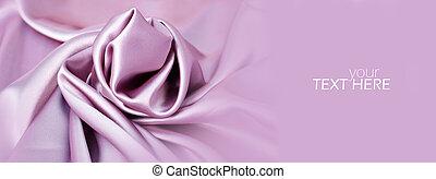 ピンク, コピースペース, 材料, 絹, サテン