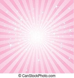 ピンク, スターズストライプ, 抽象的