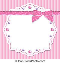 ピンク, フレーム, 弓