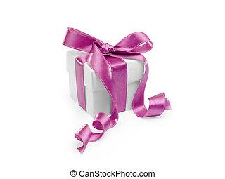 ピンク, プレゼント, リボン