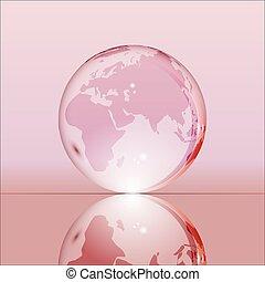 ピンク, 地球の 地球, 透明, 照ること