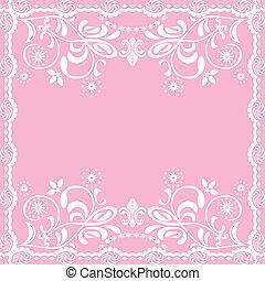 ピンク, 女らしい, 抽象的, 背景