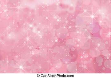 ピンク, 抽象的, 星, 背景