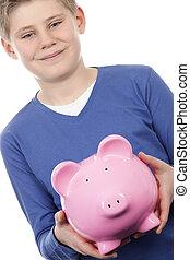 ピンク, 男の子, piggybank
