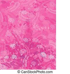 ピンク, 自然