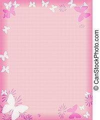ピンク, 蝶, ボーダー