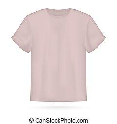 ピンク, 隔離された, イラスト, tシャツ, ベクトル, white., テンプレート