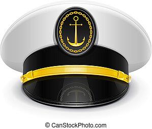 ピークに達した, 大尉, 帽子, cockade
