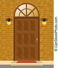ファサド, 家, ドア