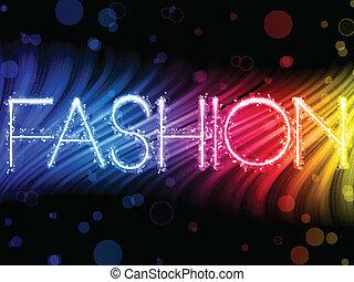 ファッション, カラフルである, 抽象的, 黒い背景, 波