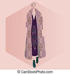 ファッション, ベクトル, illustration.