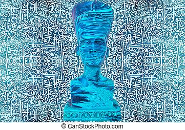 ファラオ, エジプト人, 古代彫像